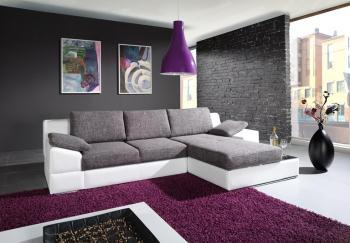 sedačka - šedá + fialova