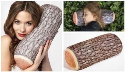 """""""drevený"""" vankúš"""