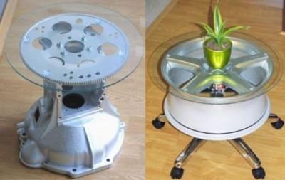 stolík z disku