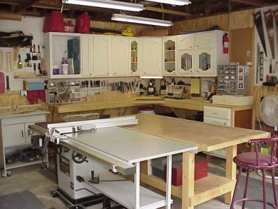 kuchynská linka v dielni