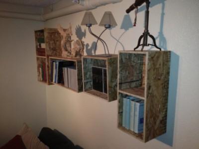 skrinky na stenu z OSB dosky