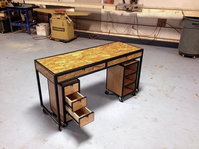 pracovný stolík z OSB dosky - ponk