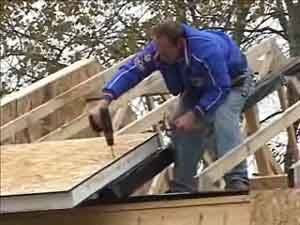 OSB dosky - stavba krovu